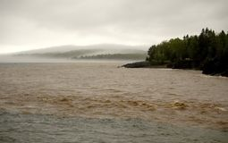 Boue, inondation et brouillard Photo stock