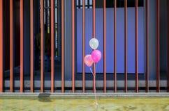 bouffée de ballons de partie dans le vent Photo libre de droits