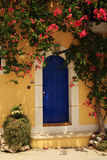 Bougainvillea growing around the door Stock Images