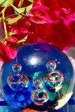 Bouganville flower and murrina closeup , venetian glass ball Stock Photo
