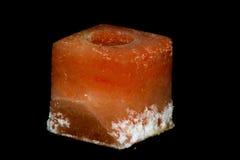 Bougeoir de roche de sel Photos stock