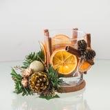 Bougeoir fait main de Noël Photo stock