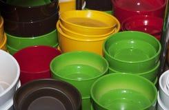 Bough pots  in the shop Royalty Free Stock Photos