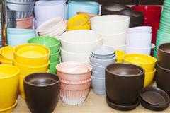 Bough-pots  in the shop Stock Photography