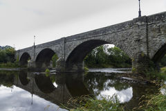 Boughrood Bridge over the River Wye. Royalty Free Stock Photography