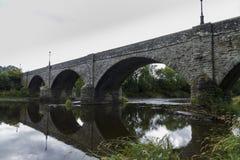 Boughrood bro över flodwyen Royaltyfri Fotografi