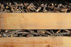 Boughs in the box on the kindling Stock Images