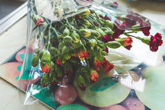 Bought flowers Royalty Free Stock Photo