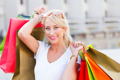 She Bought Lot of Things Stock Photos