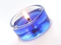 Bougie bleue Photos libres de droits