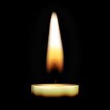 Bougie brûlante Photos libres de droits