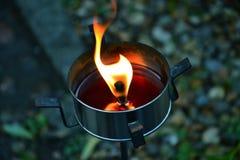 Bougie brûlante Images libres de droits