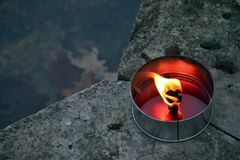 Bougie brûlante Photographie stock