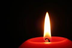 Bougie brûlante Photographie stock libre de droits