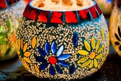 Bougie colorée lumineuse votive Images libres de droits