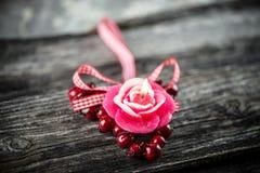 Bougie, décoration de Saint-Valentin Image stock