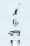 Bougie découpée en tranches de l'eau Photos libres de droits