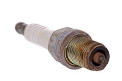 Bougie d'allumage rouillée utilisée Photographie stock libre de droits