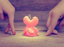 Bougie d'amour cassé Image stock
