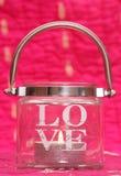 Bougie d'amour de jour de valentines Photos stock