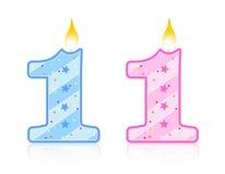 Bougie d'anniversaire - 1 Photo libre de droits