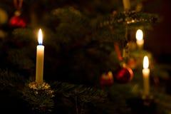 Bougie d'arbre de Noël Photographie stock