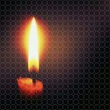 Bougie dans l'obscurité Photo libre de droits