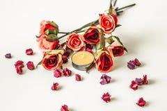 bougie de fleur Photos libres de droits