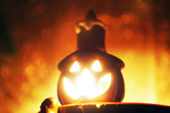 Bougie de Halloween Photographie stock libre de droits