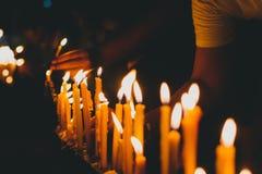 Bougie de lumière Photos stock