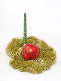 Bougie de Noël. Photo stock