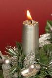 Bougie de Noël Photos libres de droits