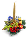 Bougie de Noël Images libres de droits