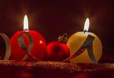 Bougie de Noël Image libre de droits