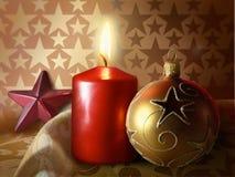 Bougie de Noël Photographie stock