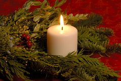 Bougie de Noël Photo stock