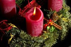 Bougie de Noël Photo libre de droits