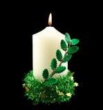 Bougie de Noël avec le houx Photos stock