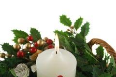 Bougie de Noël d'église Image stock