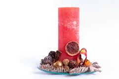 Bougie de Noël de la glace Photos stock