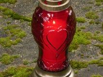 Bougie de pif de coeur de lanterne Image stock