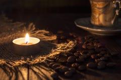 Bougie de tasse de café Photographie stock libre de droits