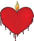 Bougie de Valentine Images stock