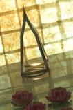 Bougie et fleurs Images stock