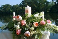 Bougie florale d'unité Photographie stock libre de droits