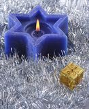 Bougie hexagone de Noël Image stock