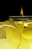 Bougie jaune Images stock
