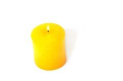 Bougie jaune Photographie stock libre de droits