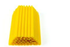 Bougie jaune Photo stock