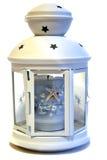 Bougie légère sous la forme d'une lanterne dans un style maritime Image libre de droits